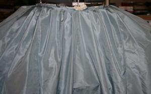 front pleats closeup